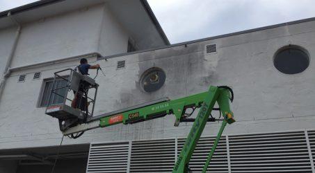 Fasadų plovimas, impregnavimas, dažymas