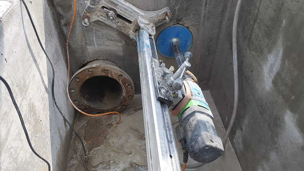 Gręžimo darbai, skylės betone